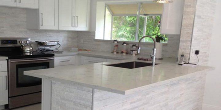 Carrara Grigio Quartz Kitchen