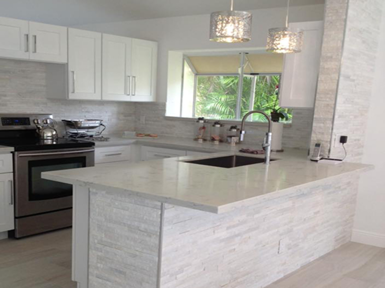 Carrara Grigio Quartz Kitchen Stone Design By Santos