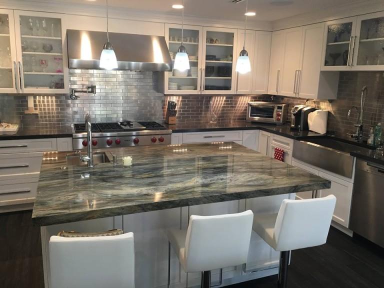 granite modern kitchen design 2015 modern kitchen top island stone design by santos