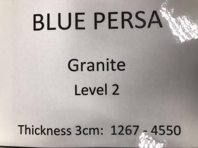 granite blue persa specs