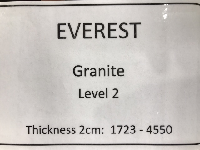 granite everest specs