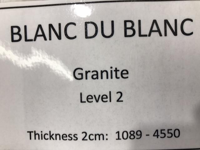 granite blanc du blanc specs