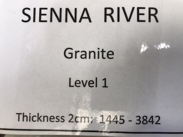 granite sienna river specs