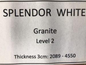 granite splendor white specs