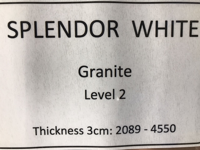 granite splendor white specs