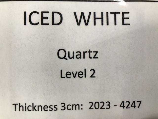 quartz iced white specs