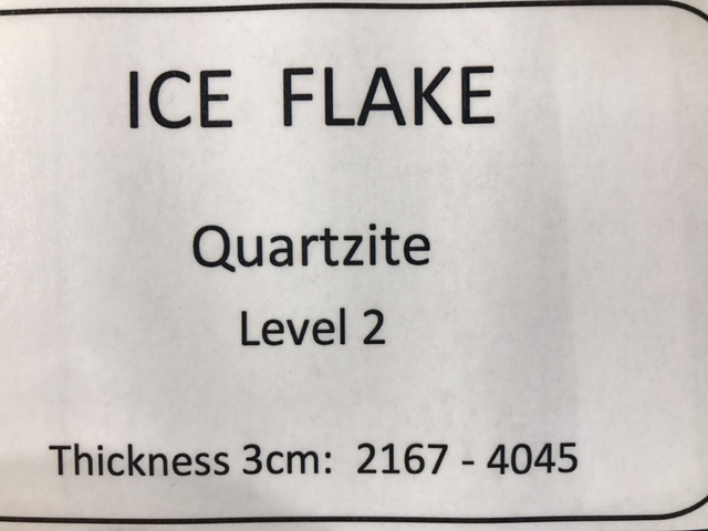 quartzite-ice-flake-specs