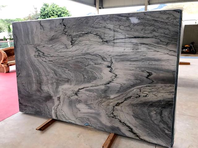 quartzite azurro slab