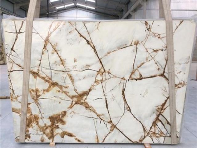 quartzite white rome slab