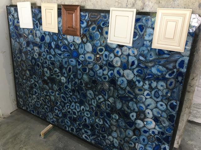 semi-precious blue agata