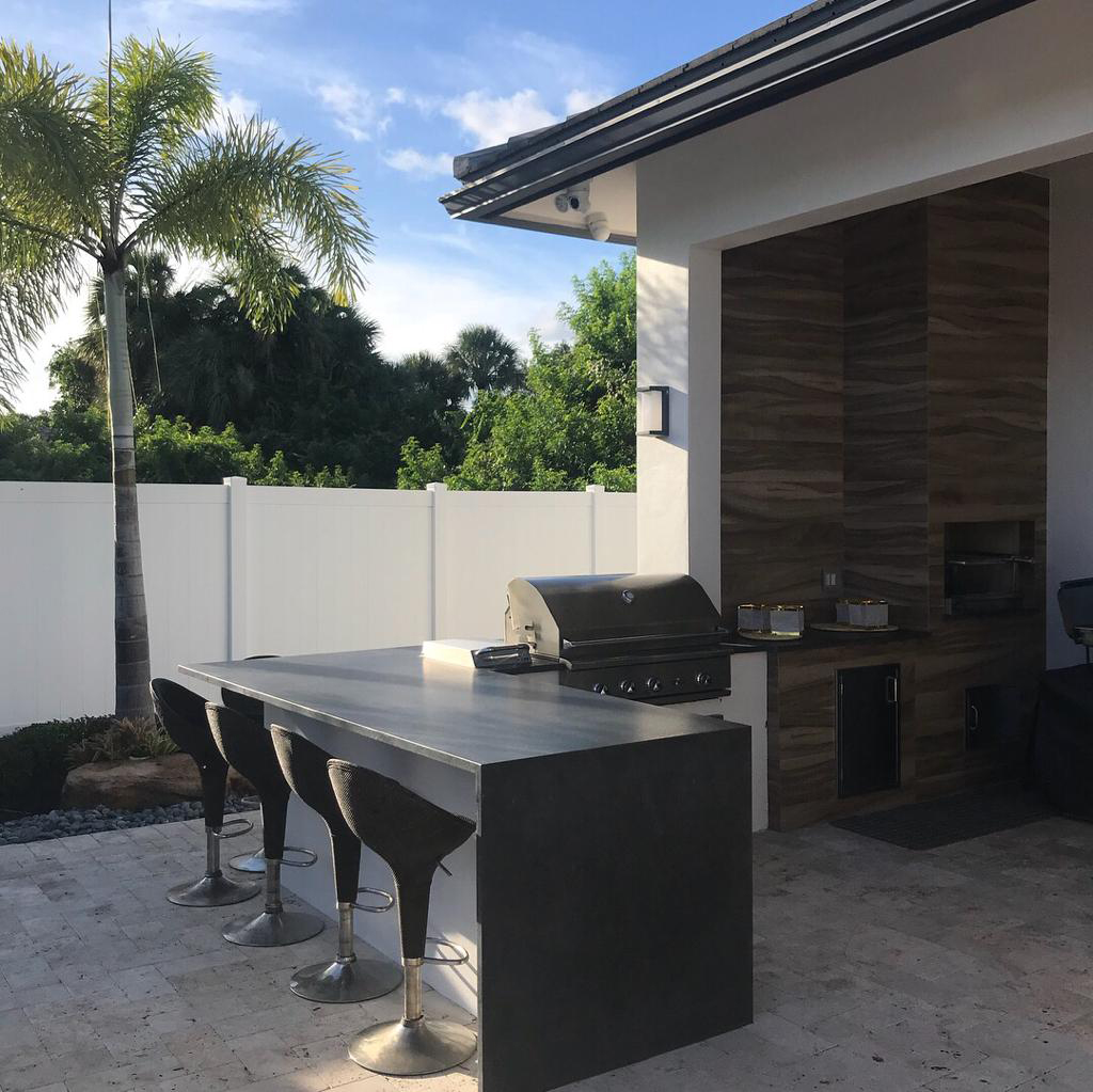Boca Raton Barbecue Area Using Stones For Remodeling